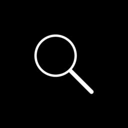 magnifying glass mountains icon