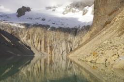 water mountains snow